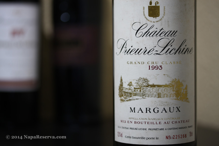 Chateau Prieure-Lichine Grand Cru Classe Margaux 1993
