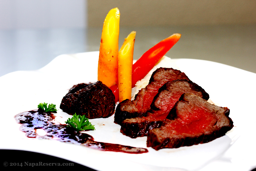 Kangaroo Tenderloin roast with porcini