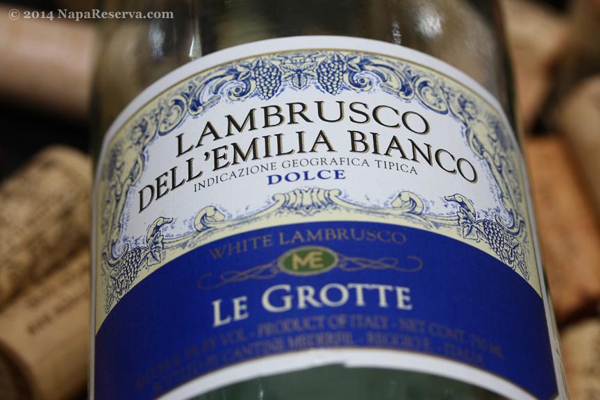 Lambrusco Dell' emilia Bianco dolce Le Grotte
