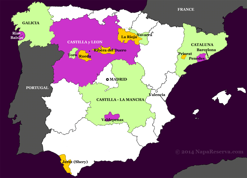 Map Of Spain Navarra.Wines Of Navarra Spain Napa Reserva Winesom Com