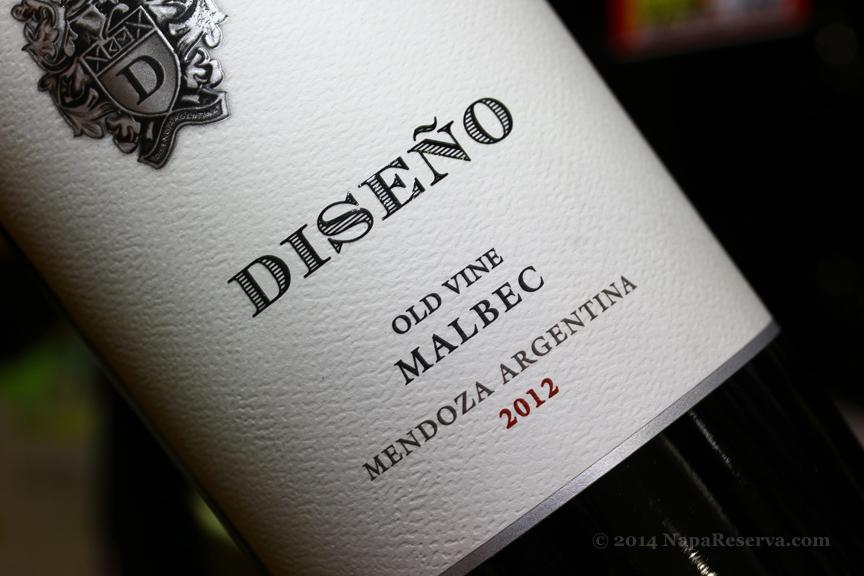 Diseno Old Vine Malbec Mendoza Argentina 2012