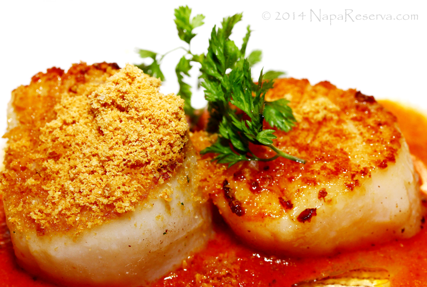 Scallop con Romesco