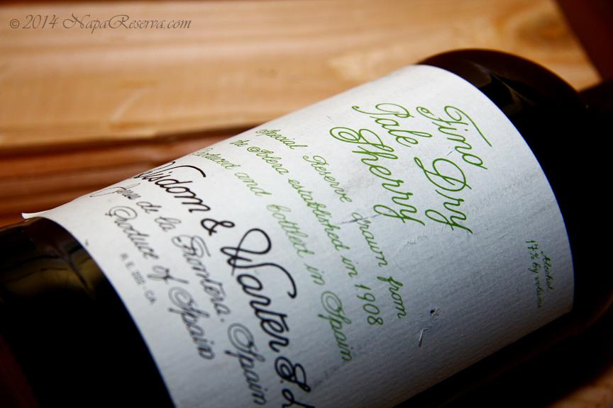 Wisdom Warter Fino Dry Sherry S