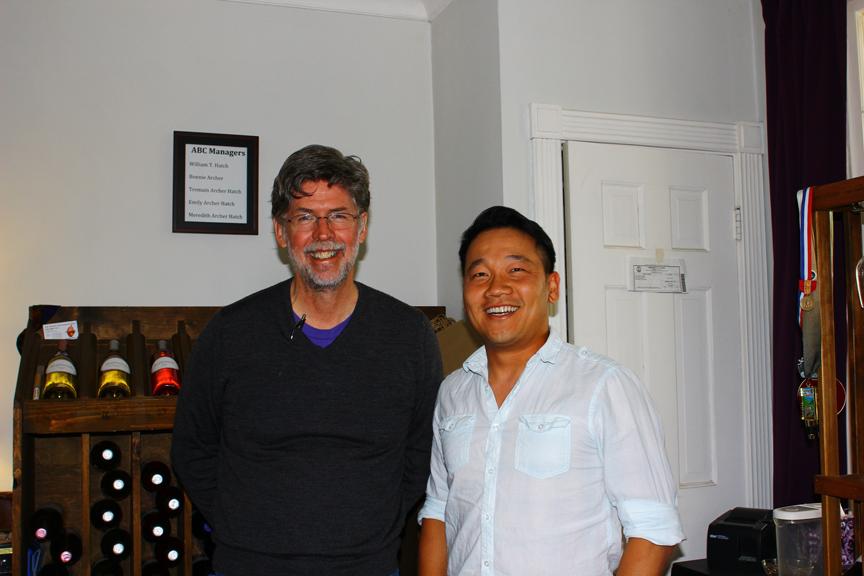 Bill and Tom at Zephaniah Farm Vineyard